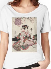 Floating world beauties in a parody of three classic plays - Eisen Ikeda - 1820 Women's Relaxed Fit T-Shirt