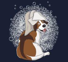 Doggy Bath - Scrub a dub dog One Piece - Short Sleeve
