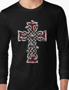 Celtic Cross with Eyes. Long Sleeve T-Shirt
