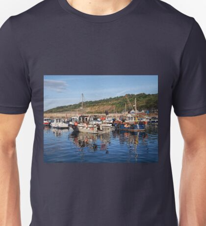 Fishing Boats at Lyme Regis harbour Unisex T-Shirt