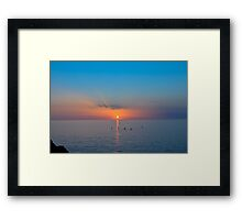 Atardecer Mallorca Framed Print
