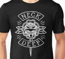 Neck Deep - floral knife (white)  Unisex T-Shirt