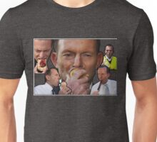 Tony Abbott eating stuff, and an onion Unisex T-Shirt
