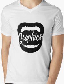 Shout! Graphics Logo Mens V-Neck T-Shirt