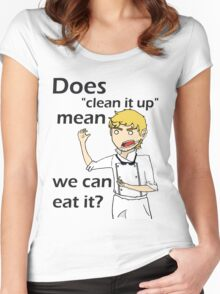 Can we eat it??? Women's Fitted Scoop T-Shirt