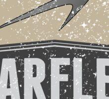 Starfleet Retro 'Where no man....' design Sticker