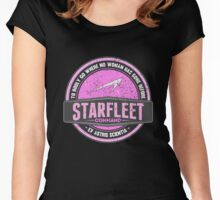 "Starfleet Retro ""Where no woman has gone before"" Women's Fitted Scoop T-Shirt"