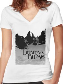 dharma bums - matterhorn peak Women's Fitted V-Neck T-Shirt
