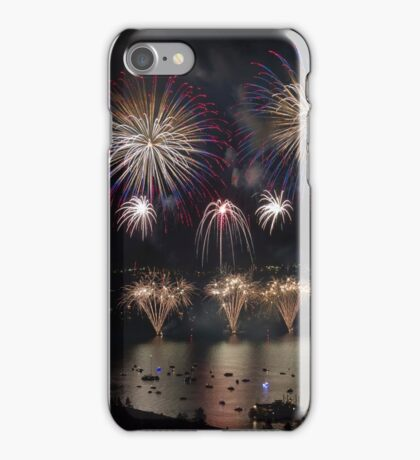 Red, White, and Blue over Lake Tahoe iPhone Case/Skin
