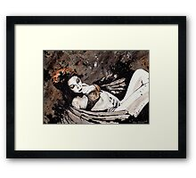 Paper Wings Turned Into Girl Framed Print