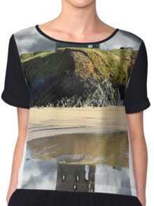 ruins of a wild atlantic way castle Chiffon Top