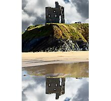 ruins of a wild atlantic way castle Photographic Print
