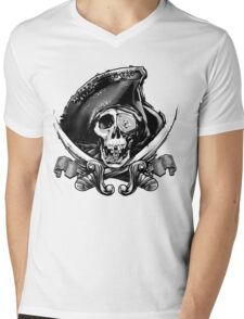 Never Say Die - One Eyed Willie Mens V-Neck T-Shirt
