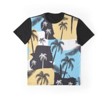 Palm trees with strokes Graphic T-Shirt