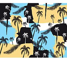 Palm trees with strokes Photographic Print
