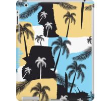 Palm trees with strokes iPad Case/Skin