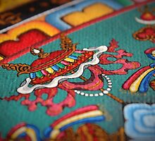Mandala of Yamantaka (detail #8) by Deanna Gardam