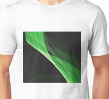 Gently flowing green curves Unisex T-Shirt