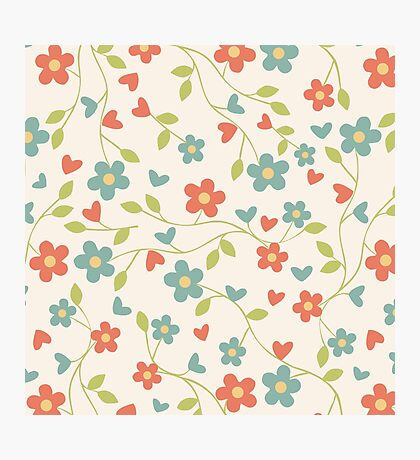 Calm Floral Patterns (Flowers) Photographic Print