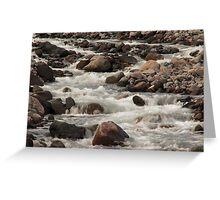 White River Rush - 2 ©  Greeting Card