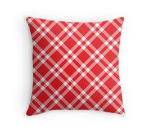 Red Picnic Fabric Pattern Throw Pillow