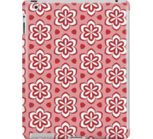 Red Pedals and White Flowers Pattern iPad Case/Skin