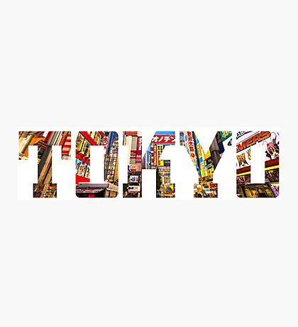 Japan Tokyo Typography Photographic Print