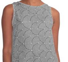 Cool Twisting Patterns, Shapes, Effects Contrast Tank
