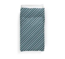 Blue Diagonal Lines Effect Duvet Cover