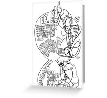 Left & Right Greeting Card