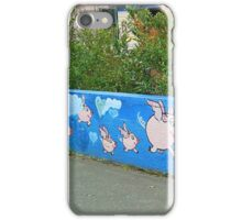 The Flying Pig Fence iPhone Case/Skin