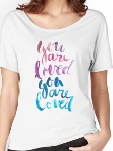 You are loved hand lettering . Women's Relaxed Fit T-Shirt