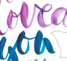 You are loved hand lettering . Sticker
