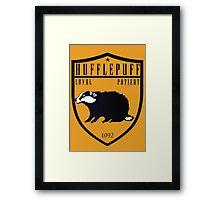 Hufflepuff Crest Framed Print