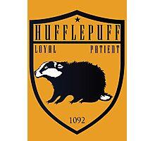 Hufflepuff Crest Photographic Print