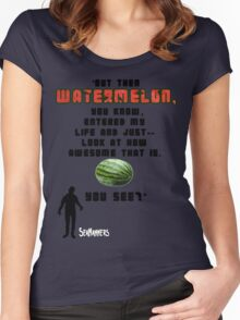 Seananners - Watermelon Women's Fitted Scoop T-Shirt