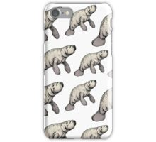 Manatee party! iPhone Case/Skin