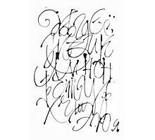 Russian calligraphic alphabet Photographic Print