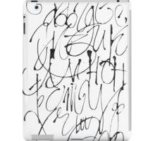 Russian calligraphic alphabet iPad Case/Skin