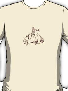 Armadillo and Boy (small Brown) T-Shirt