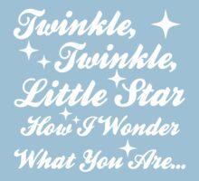 Twinkle, Twinkle, Little Star (white) Kids Tee