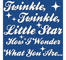 Twinkle, Twinkle, Little Star (white) Photographic Print