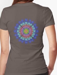 Foot Flower Womens Fitted T-Shirt