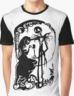 Nightmare Before Christmas - Black On White Graphic T-Shirt