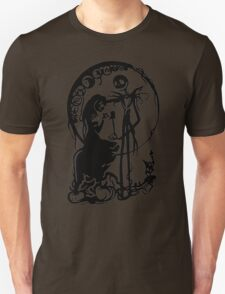Nightmare Before Christmas - Black On White Unisex T-Shirt