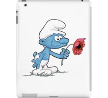 Smurf Holding Flower iPad Case/Skin