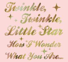 Twinkle, Twinkle, Little Star (gold sparkle) One Piece - Short Sleeve