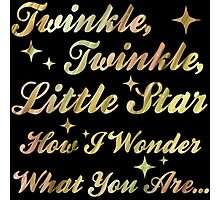 Twinkle, Twinkle, Little Star (gold sparkle) Photographic Print