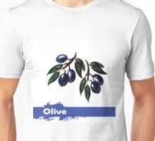fruit olives, hand drawn watercolor Unisex T-Shirt