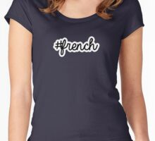 french | hashtag Women's Fitted Scoop T-Shirt